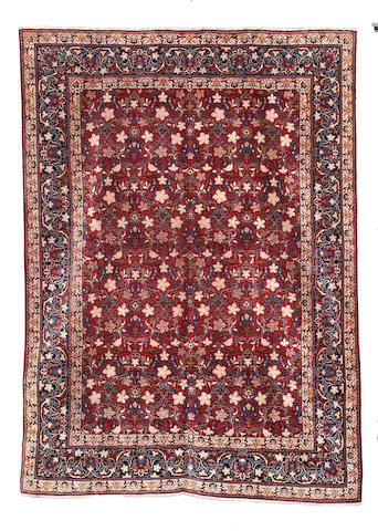A Kashan carpet, Central Persia, 373cm x 278cm