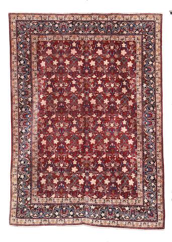 A Kashan carpet, Central Persia, 373cm x 278cm
