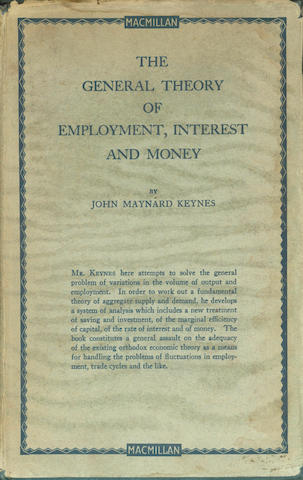 KEYNES (JOHN MAYNARD) The General Theory of Employment, Interest and Money, FIRST EDITION, dust-jacket, 1936