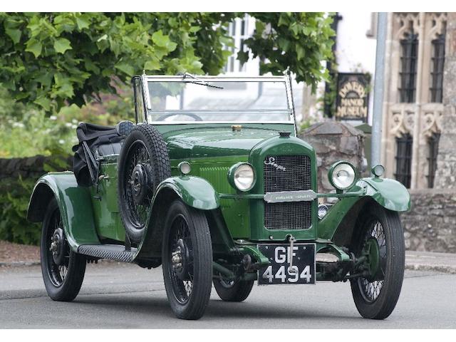 1930 Singer 'Porlock' Sports Junior  Chassis no. 18989 Engine no. 24113