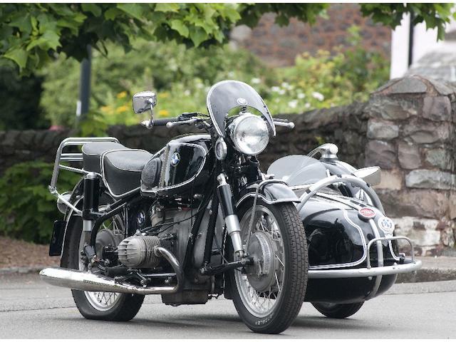 1956 BMW R50 Combination Steib 250s Frame no. 555846 Engine no. 555846