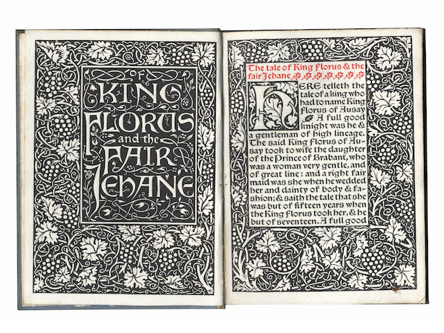 KELMSCOTT PRESS The Tale of King Florus and the Fair Jehane, LIMITED TO 350 COPIES, 1893