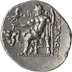 Macedon, Kings of Macedon, Philip V, Didrachm, 183-179 BC 8.33g. Grose-3629. Obverse: Diademed head right. Reverse: Club within wreath, trident to left. Inscriptions ΒΑΣΙΛΕΩΣ (above club), ΦΙΛΙΓΓΟΥ-ΜΕΣ is below. This is one of the few coins that was once owned by a president of the United States that you can own. Great pedigree. Deep cabinet toning. Ex: Mass. Historical Society, John Q. Adams Collection, Stack's 1971 lot #156.