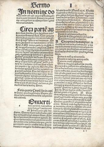 PELBARTUS DE THEMESWAR Sermones Pomerii quadragesimales, Hagenau, 1499