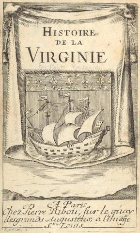 BEVERLEY (ROBERT)] Histoire de la Virginie... par un auteur natif & habitant du pais, 1707