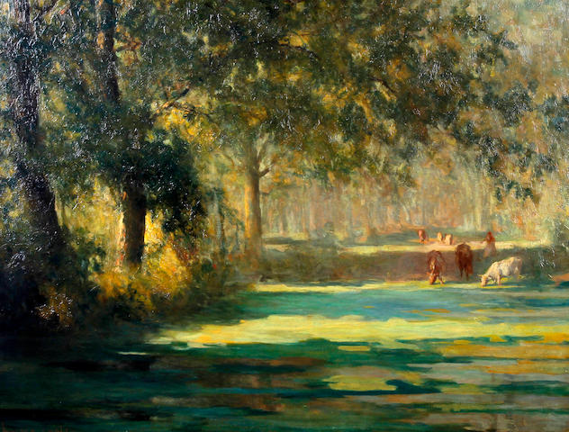 Walter Emsley (British, active 1883-1927) 'A Quiet Pool'