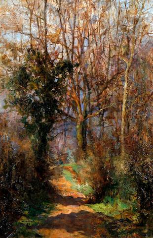 Walter Emsley (British, active 1883-1927) 'The Cornfield', Tal'y Bont, North Wales