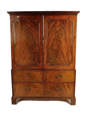 19th c mah linen press