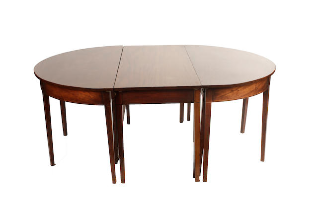 A George III mahogany dining table