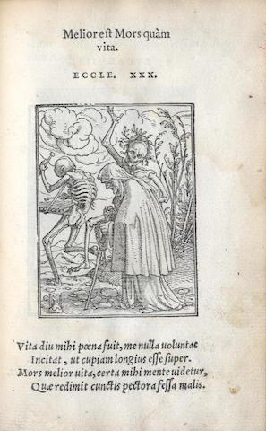 CORROZET (GILLES)] Icones Mortis, 1554