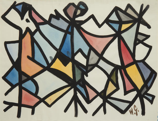 William Gear (British, 1915-1997) Abstract