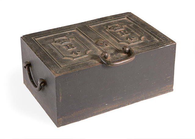 A 17th / 18th century iron strong box