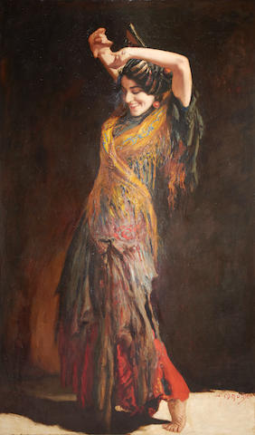 Leopold Schmutzler (German, 1864-1941) The flamenco dancer