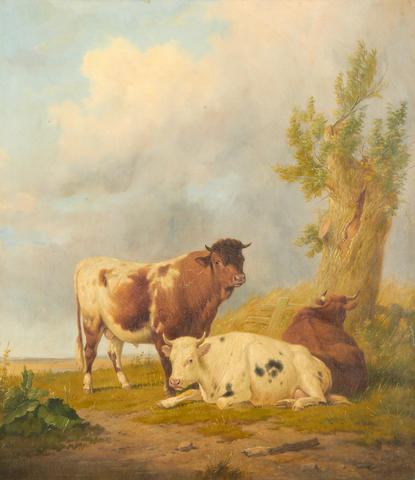 Thomas Sidney Cooper, RA (British, 1803-1902) Cattle in a landscape