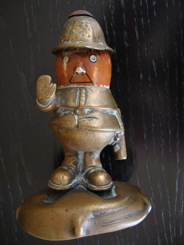 A Bobby car mascot by Hassall, British, 1920s,