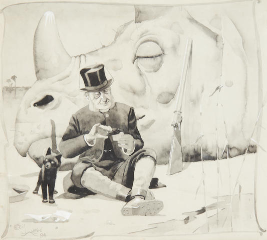 Cecil Charles Windsor Aldin, RBA (British, 1870-1935) The Rhino and the Reverend The Rhino and the Reverend