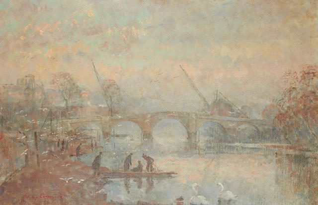 Philip Connard (British, 1875-1958) The Bridge at Richmond