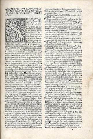 NONIUS MARCELLUS. De proprietate latini sermonis, Venice, 1498