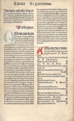 VORAGINE (JACOBUS DE) Legenda aurea sanctorum, sive Lombardica historia, 1486