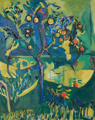 Philip Sutton, R.A. (British, born 1928) 'Lemon Tree, Menton, France'