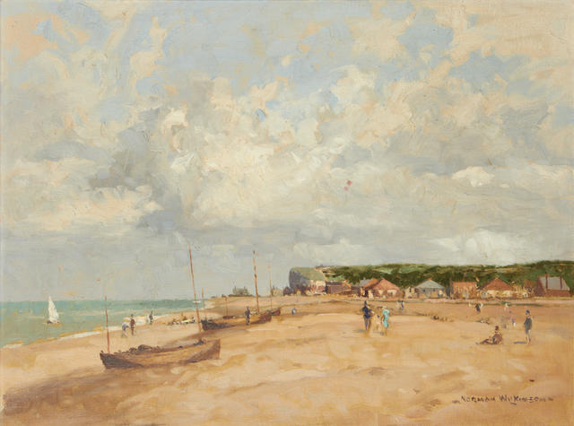 Norman Wilkinson (British, 1878-1971) Beach scene, summer
