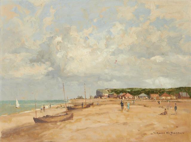 Norman Wilkinson (British, 1878-1971) Beach scene, summer