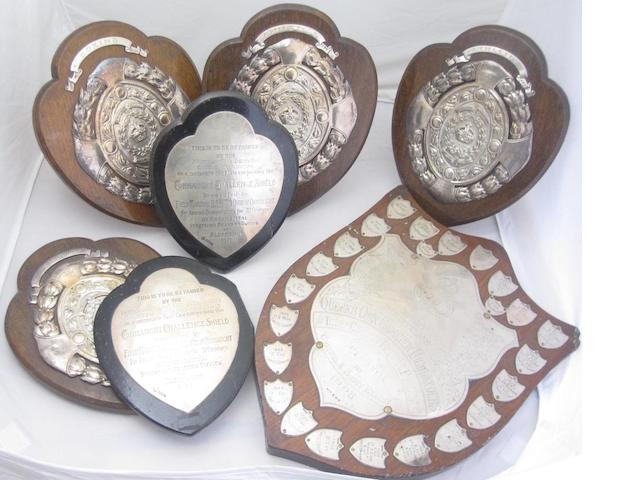 A collection of prize shields various makers and dates  (7)