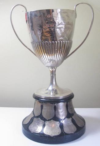 A Victorian large twin handled presentation cup by Stokes & Ireland Ltd., Birmingham 1893  (2)