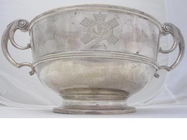 A Victorian twin handled presentation bowl by Charles Stuart Harris, London 1899