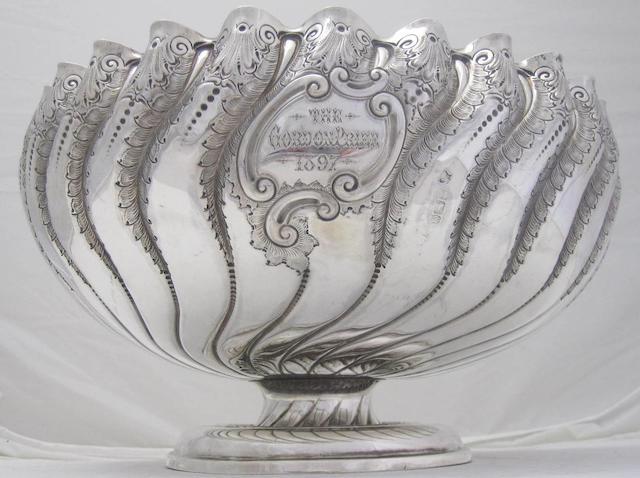 A Victorian silver bowl by Fenton & Fenton, Sheffield 1890