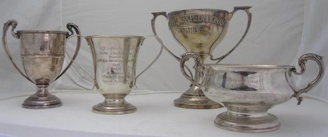 Four presentation trophies various makers and dates