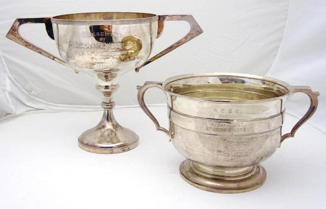 A twin handled silver presentation cup by James Fenton & Co., Birmingham 1930