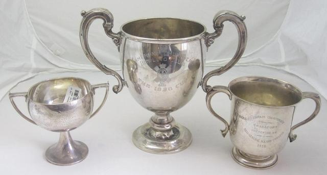 Three silver presentation cups various makers and dates  (3)