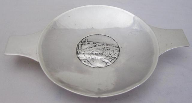 An Edwardian silver quaich by Smith and Sharp, Edinburgh 1904