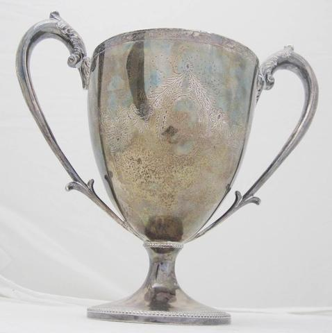 A George III twin handled cup  by Adam Graham, Glasgow circa 1800  (repairs)