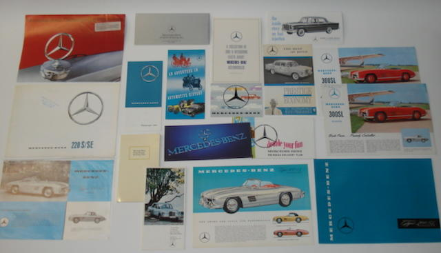 Assorted Mercedes-Benz ephemera,
