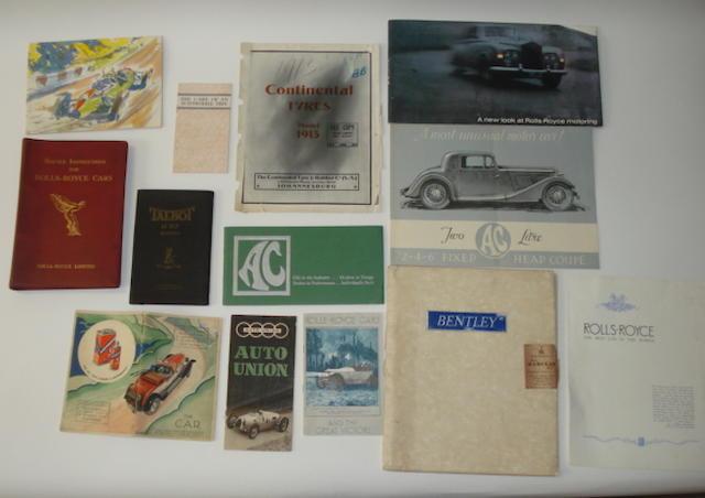 A 4¼ Litre Bentley sales brochure,
