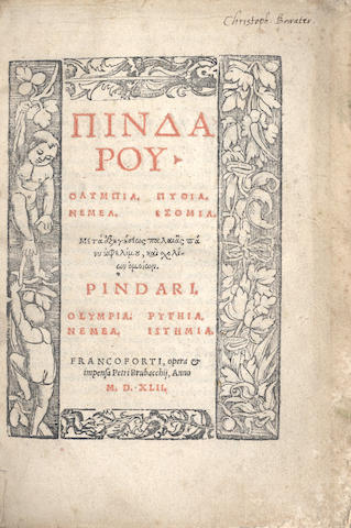 PINDAR Olympia [etc.], 1542; and 2 others (3)
