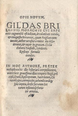 GILDAS. Opus novum, [Antwerp, 1525?]