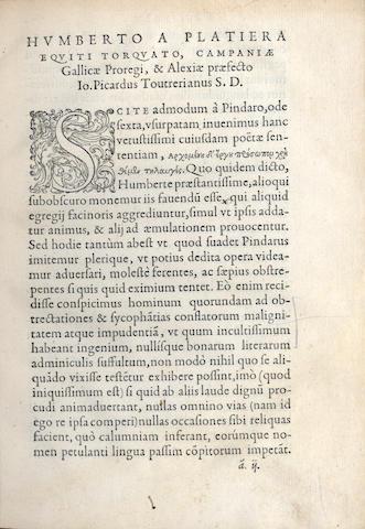 PICARD (JEAN) De prisca celtopaedia, libri quinque, 1556
