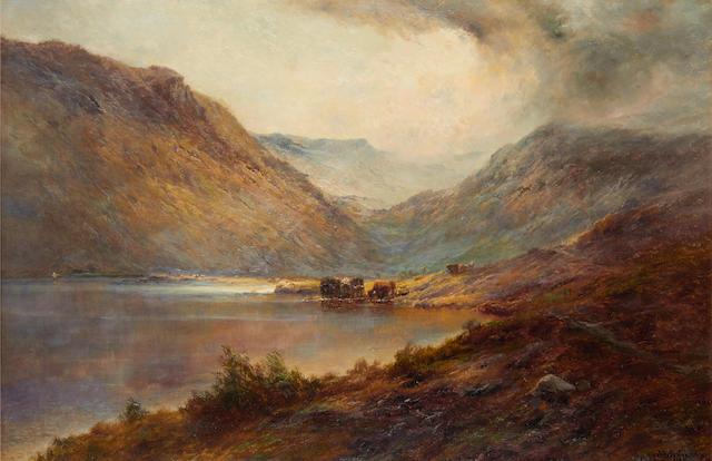 Alfred de Bréanski Snr. (British, 1852-1928) Stronachlacher, (a passing storm) N.B.