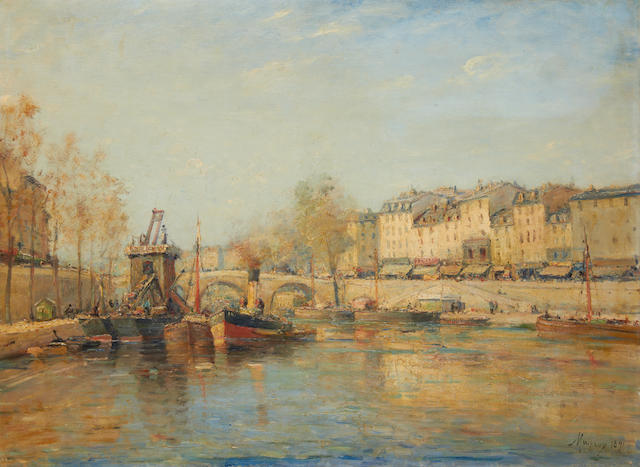 Charles Malfroy (French, 1862-1951) Pont de Tournelle, Paris