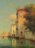 Noel Georges Bouvard (French, 1912-1975) Views of Venice, a pair each 35 x 27cm (13 3/4 x 10 5/8in), (2).