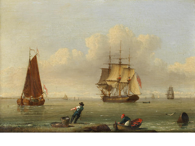 John Ward of Hull (British, 1798-1849) Low tide ???
