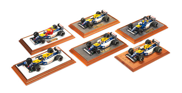 Williams FW14B model by Trinity, signed to the base by Riccardo Patrese, 1:24 scale,