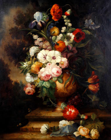 British School, (circa 1900) Still life of flowers