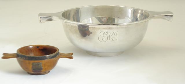 A silver quaich by Brook & Son, Edinburgh 1921