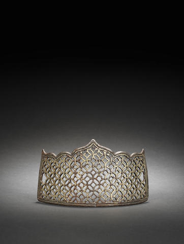 An Ilkhanid/Timurid openwork gilded crown 13-14th century
