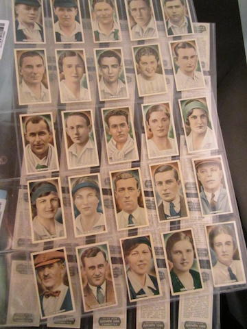A collection of cigarette cards by Ardeth Cork