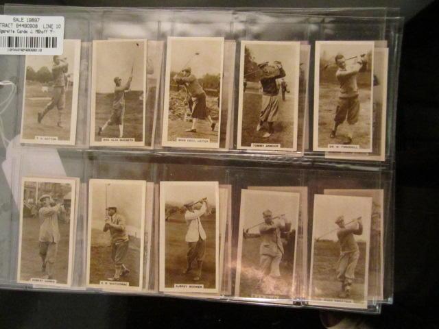 Cigarette Cards: J. Millhoff 'Famous Golfers' circa 1928